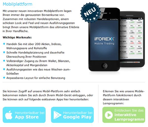 iForex Mobil Handy