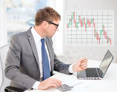 Selbstständiger Aktienhändler