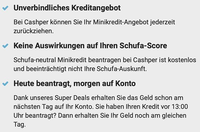 Cashper Schufa