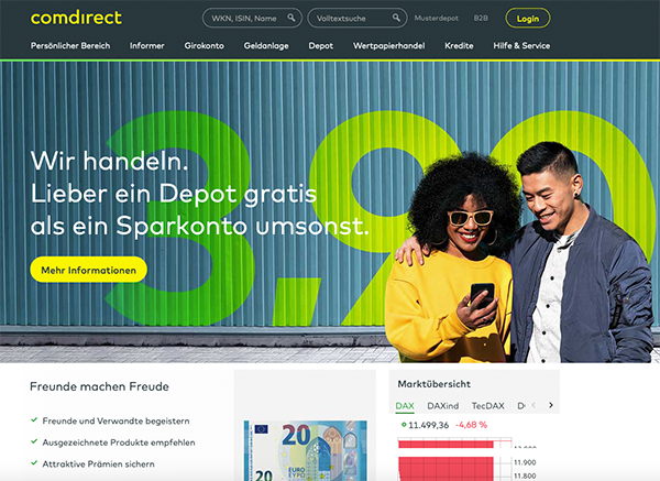 comdirect Startseite